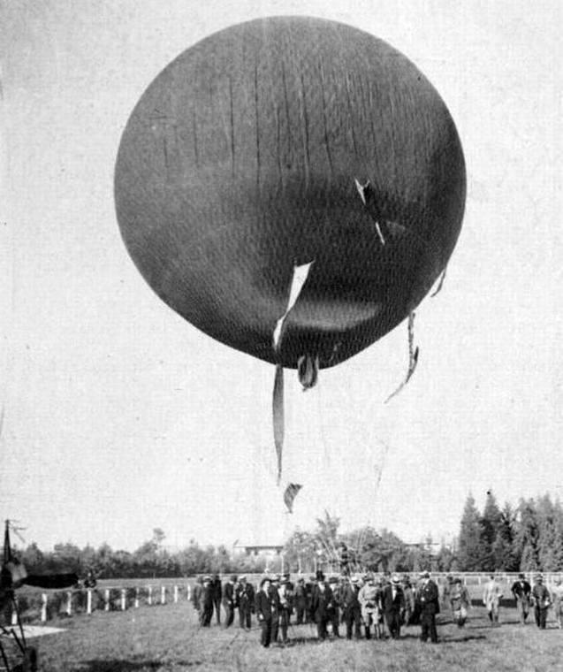 Thumb vuelo en globo desde el club h pico de santiago en el a o 1916