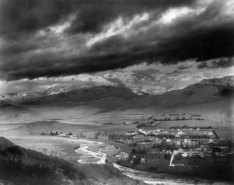 Thumb panormica hacia el oriente de santiago desde el cerro san cristbal en 1922