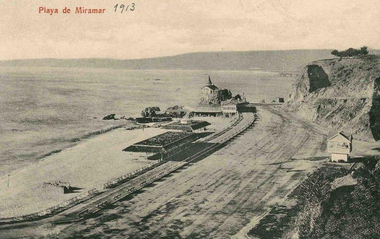 Thumb miramar playa en 1913